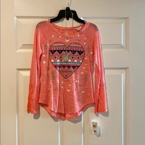 Girls Blouse with Necklace included